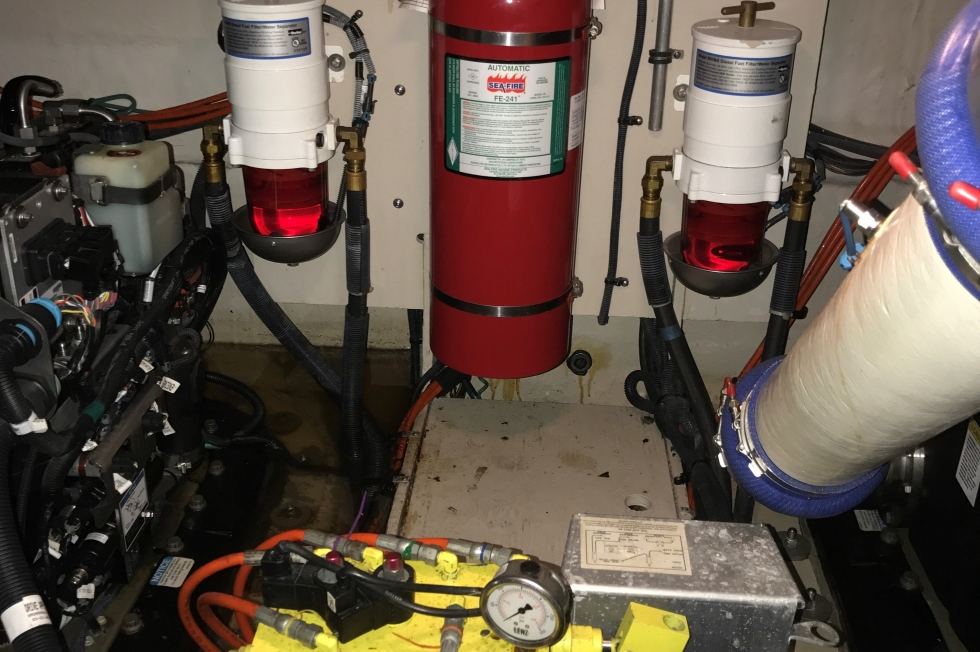 fire suppression, oil exchange system